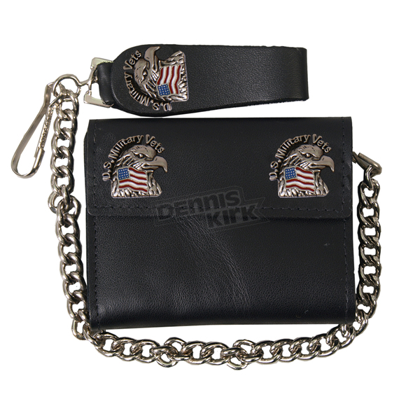 Hot Leathers US Military Vets Leather Wallet - WLA1014