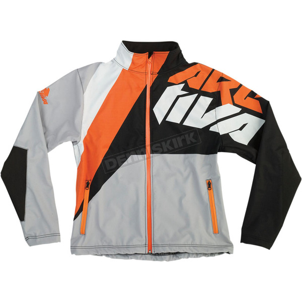 Arctiva Gray/Black/Orange Softshell Jacket - 3120-1515