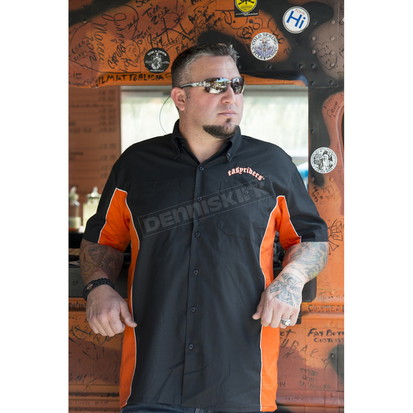Easyriders Roadware Black/Orange Hardcore Workshirt - 6529M