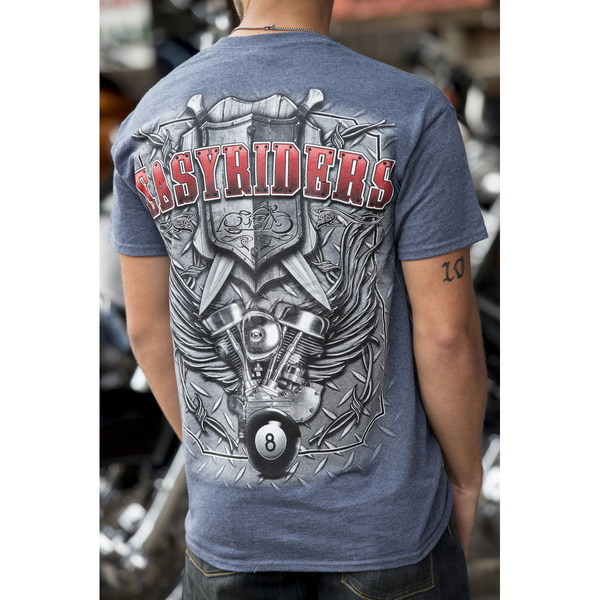 Easyriders Roadware Blue Diamond Shield T-Shirt - 4215L