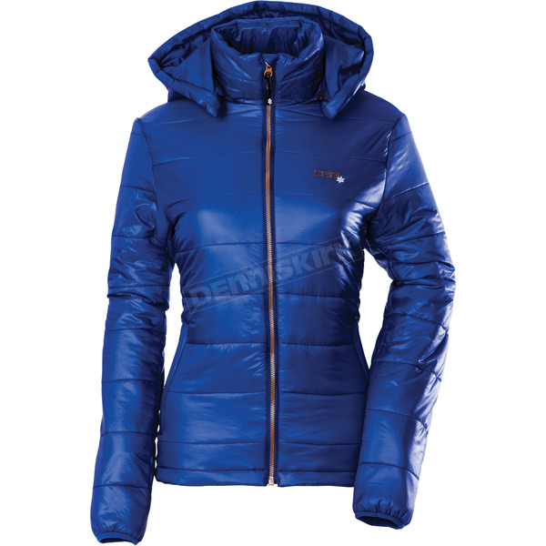 Divas Snowgear Womens Navy Blue Hooded Puffer Jacket - 97129