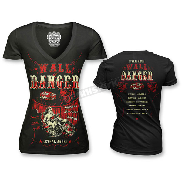 Lethal Threat Womens Wall of Danger T-Shirt - LT20383M