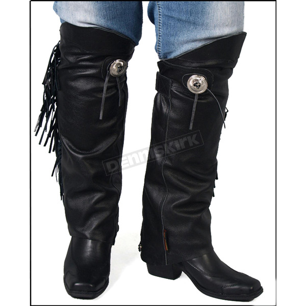 Hot Leathers Leather Leg Warmers - LCU1001XSS