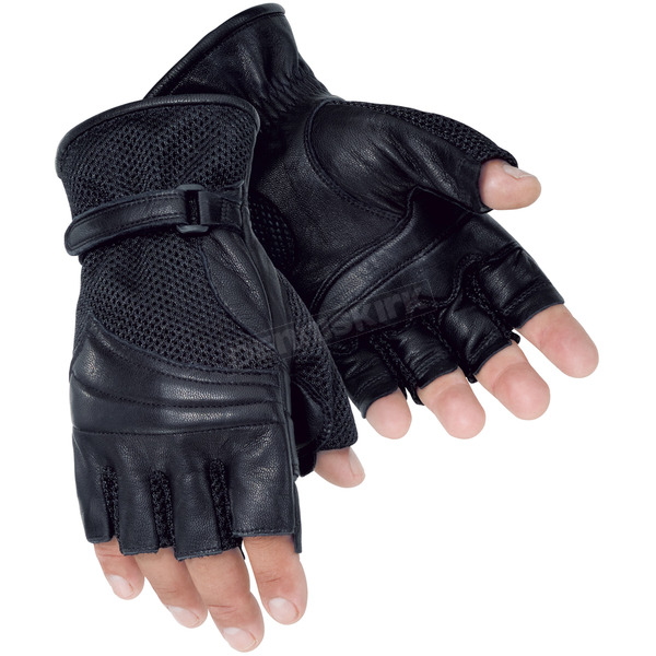 Tour Master Gel Cruiser 2 Black Fingerless Gloves - 8414-0205-06