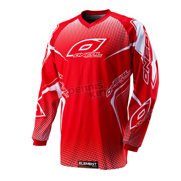 O'Neal Red/White Element Jersey - 0075