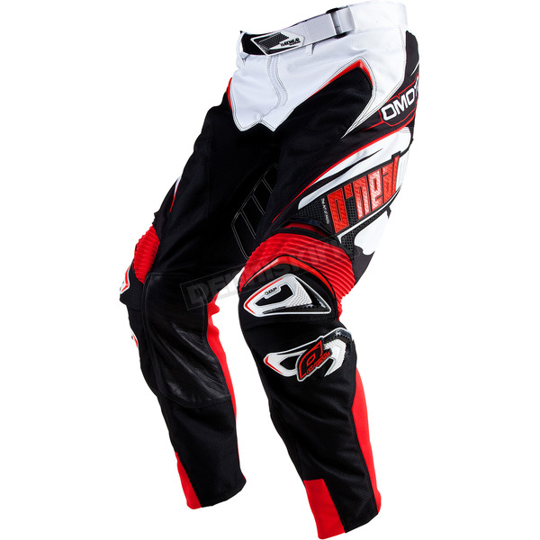 O'Neal White/Red Hardwear Racewear Pants - 0153