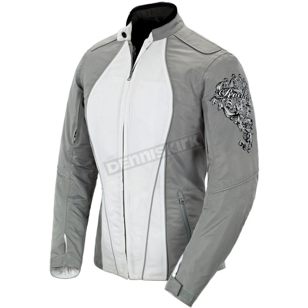 Joe Rocket Womens Silver/White Alter Ego 3.0 Jacket - 1061-6602