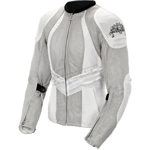Joe Rocket Womens Silver/White Alter Ego 3.0 Jacket - 1061-6603