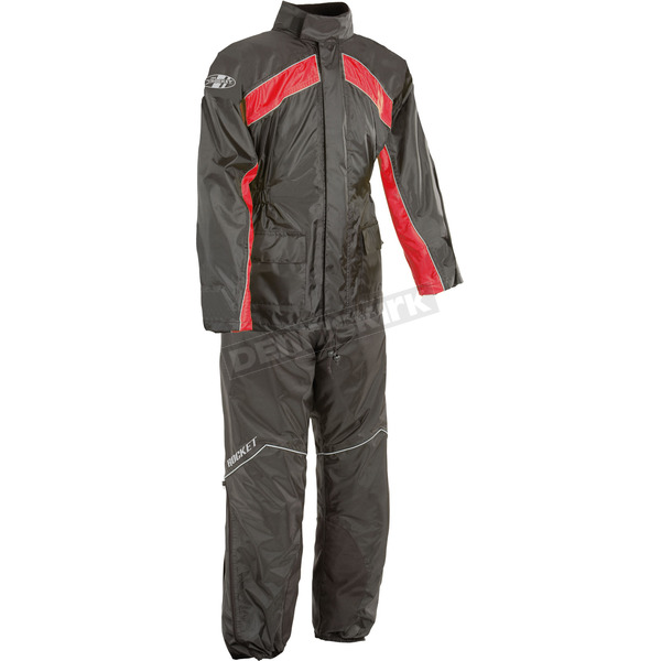 Black/Red RS-2 Two Piece Rainsuit - 1010-1103