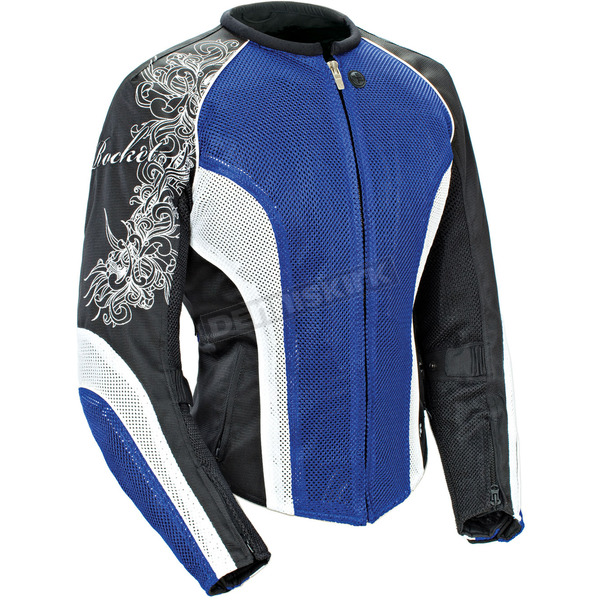 Joe Rocket Womens Blue/White/Black Cleo 2.2 Jacket - 1250-0202