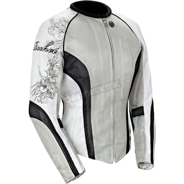 Joe Rocket Womens Silver/Black/White Cleo 2.2 Jacket - 1250-0605