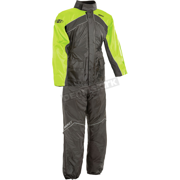 Joe Rocket Black/Hi-Viz Neon RS-2 Two Piece Rainsuit - 1010-2404