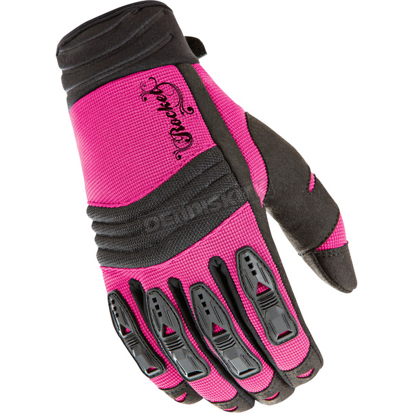 Joe Rocket Womens Pink/Black Velocity Gloves - 1330-0903