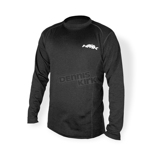 HMK Black Transfer Base Layer Long Sleeve T-Shirt - HM7BTS