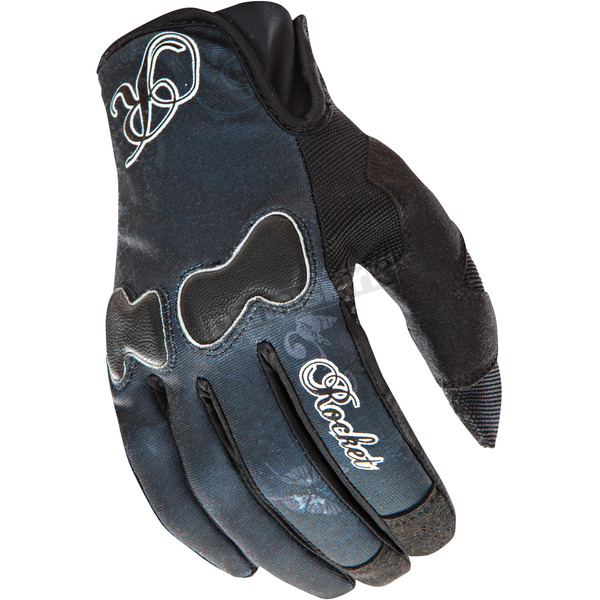 Joe Rocket Womens Black Lady Nation Gloves - 1332-1003