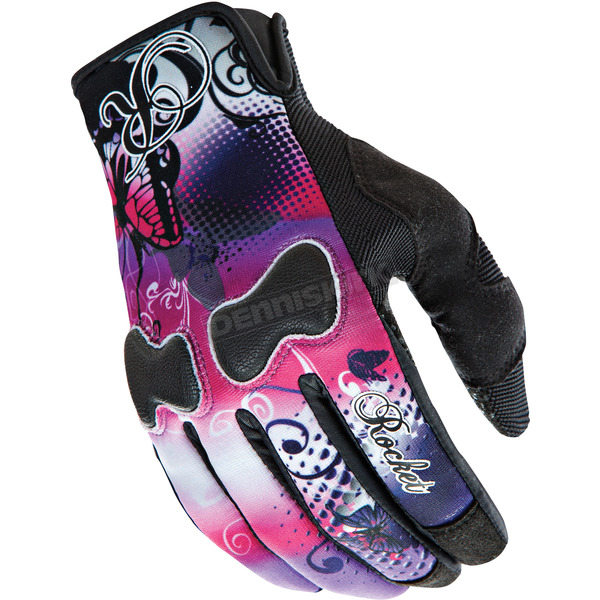 Joe Rocket Womens Pink/Purple Lady Nation Gloves - 1332-1902