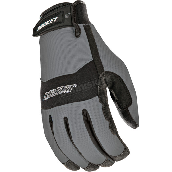 Joe Rocket Gunmetal/Black RX14 Crew Touch Gloves - 1336-1602
