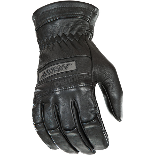 Black Classic Leather Gloves - 1338-1007