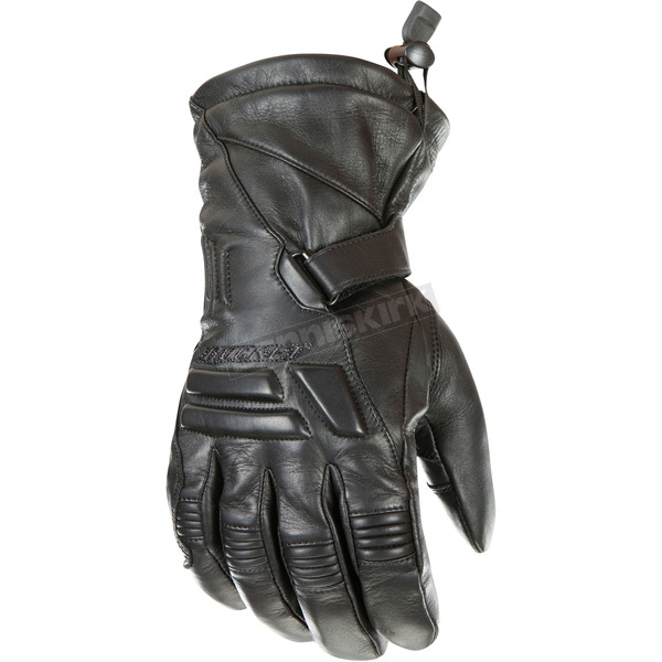 Joe Rocket Black Windchill Leather Gloves - 1344-1003