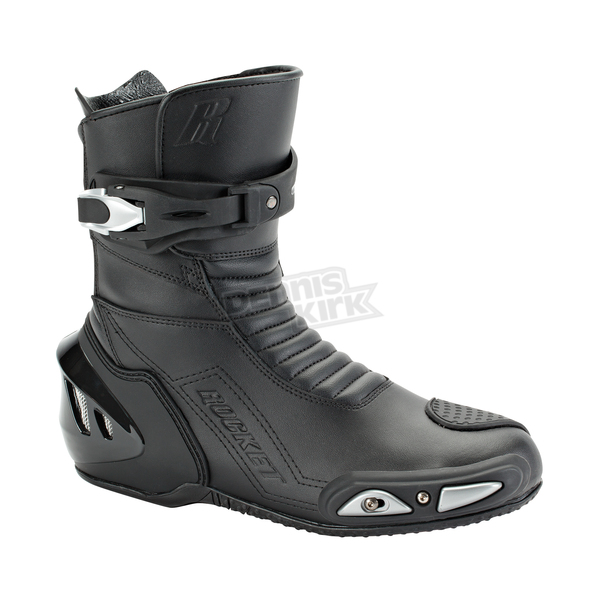 Joe Rocket Black Super Street RX14 Leather Boots - 1427-0080