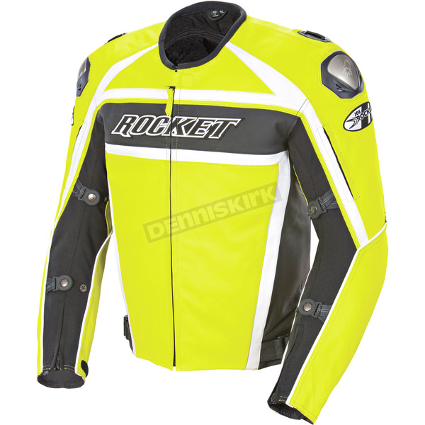 Joe Rocket Radio Active Yellow Speedmaster Leather Jacket - 1430-1450