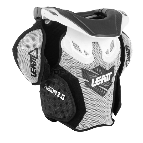 Leatt Youth White/Black Fusion 2.0 Neck Brace/Torso Protector - 1015400124