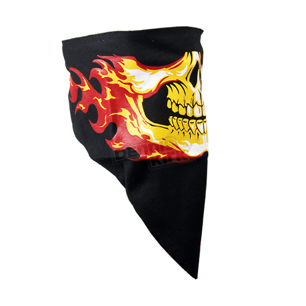 Hot Leathers Flames/Hell Skull Neck Warmer - FWA1002