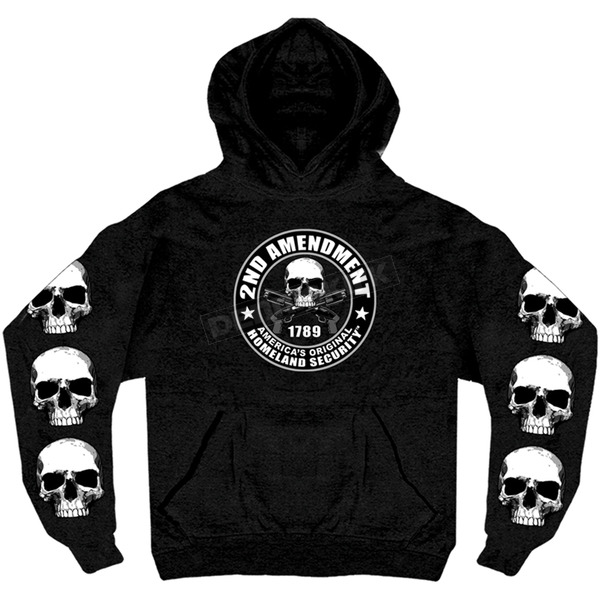 Hot Leathers Black 2nd Amendment Pullover Hoody - GMS4200M