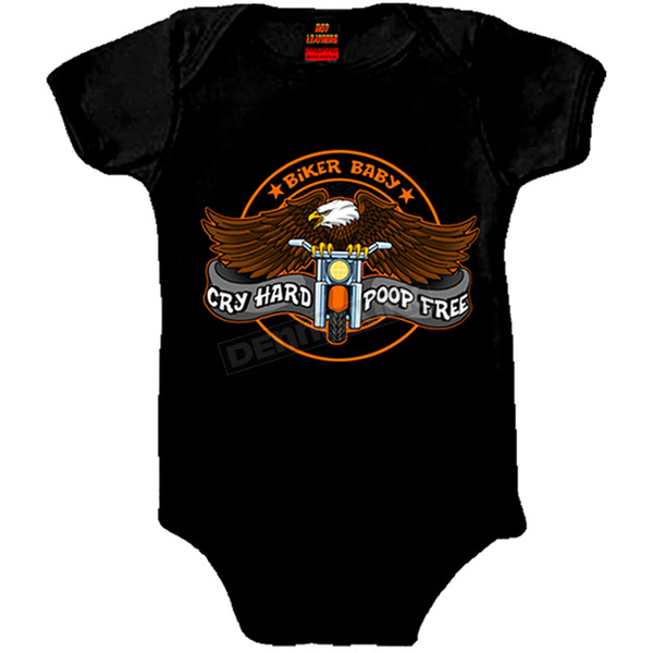 Hot Leathers Black Cry Hard Onesie - GYS1016-18M