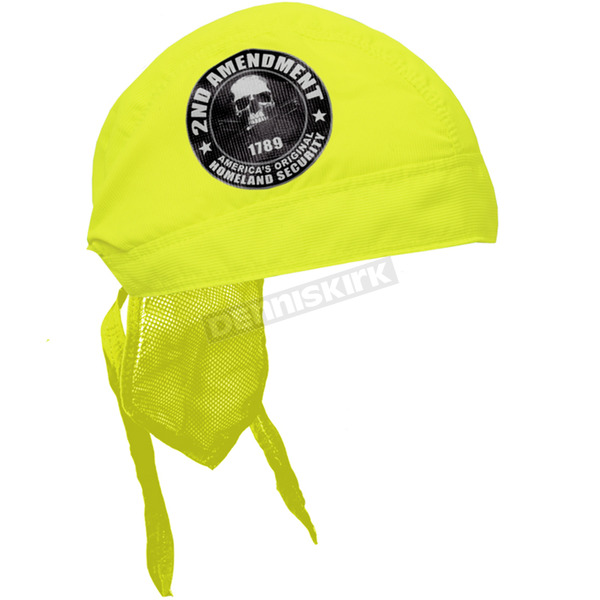 Hot Leathers Safety Green 2nd Amendment Premium Headwrap - HWH1073