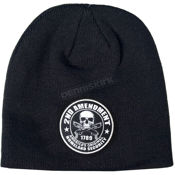 Hot Leathers Black 2nd Amendment Beanie - KHB1038