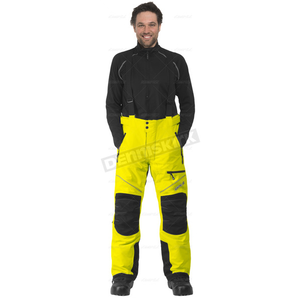 CKX Hi-Viz Yellow/Black Climb Snowmobile Pants  - 183437