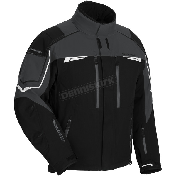 Fieldsheer Black/Gunmetal Diamond Plate Snowmobile Jacket - 6401-1407-06
