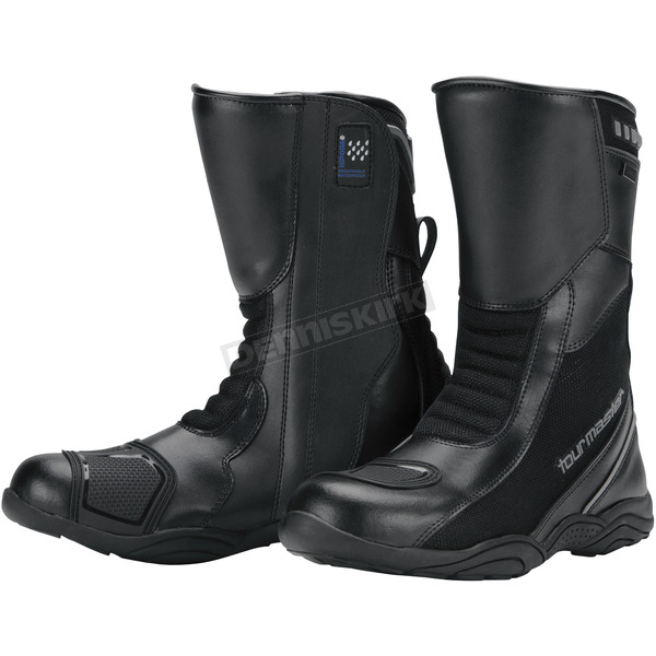Tour Master Black Solution Waterproof Air Boots - 8605-0105-46