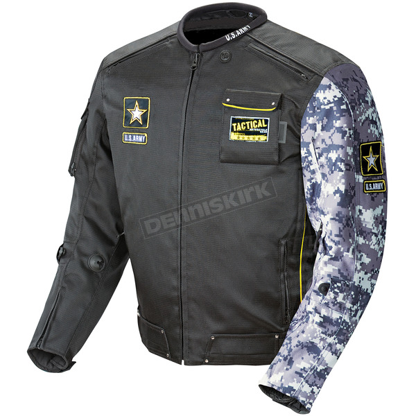 Joe Rocket Black/Gray Camo U.S. Army Alpha Jacket - 0701-2006