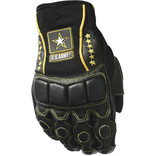 Joe Rocket Black/Yellow U.S. Army Tactical Gloves - 0706-3003