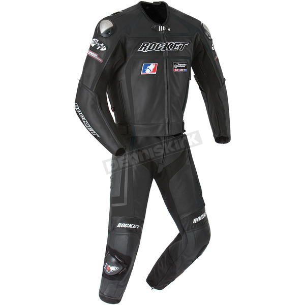 Joe Rocket Black Speedmaster Two-Piece Suit - 1052-0052