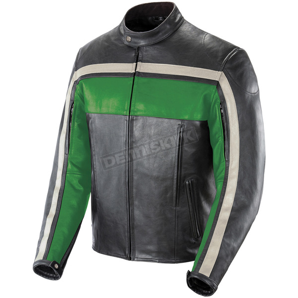 Joe Rocket Green/Black/Ivory Old School Jacket - 1052-2506