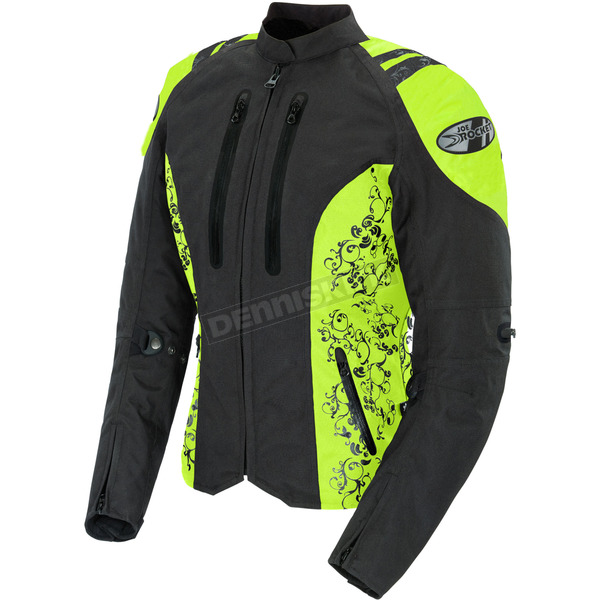 Joe Rocket Womens Black/Hi Viz Atomic 4.0 Jacket - 1061-5505