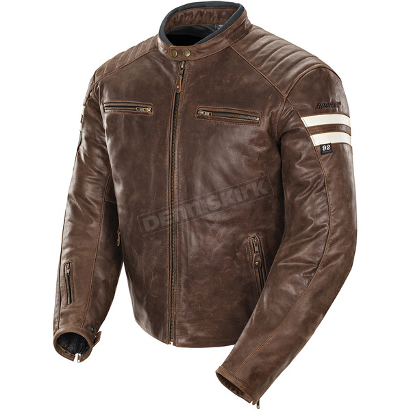 Joe Rocket Brown/Cream Classic '92 Jacket - 1326-2302