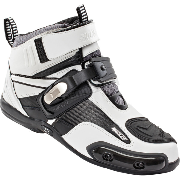 Joe Rocket White/Black Atomic Leather Shoes - 1387-2010