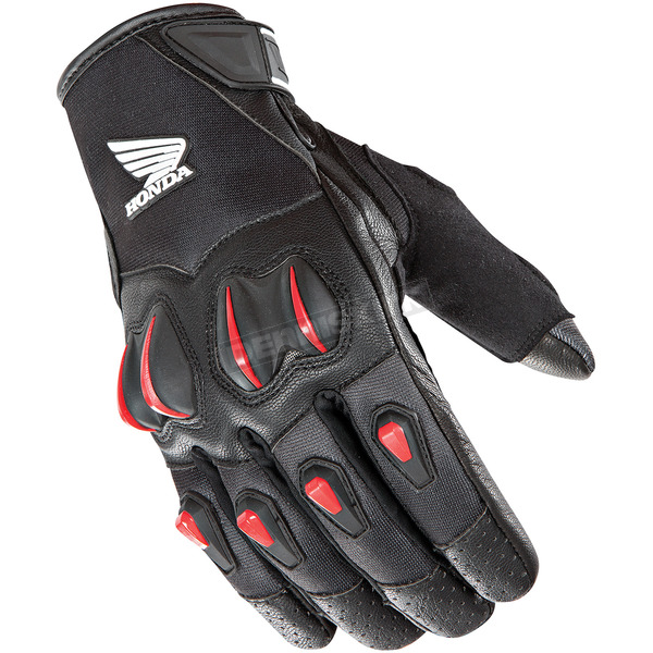 Joe Rocket Black/Red Cyntek Honda Gloves - 1508-1105