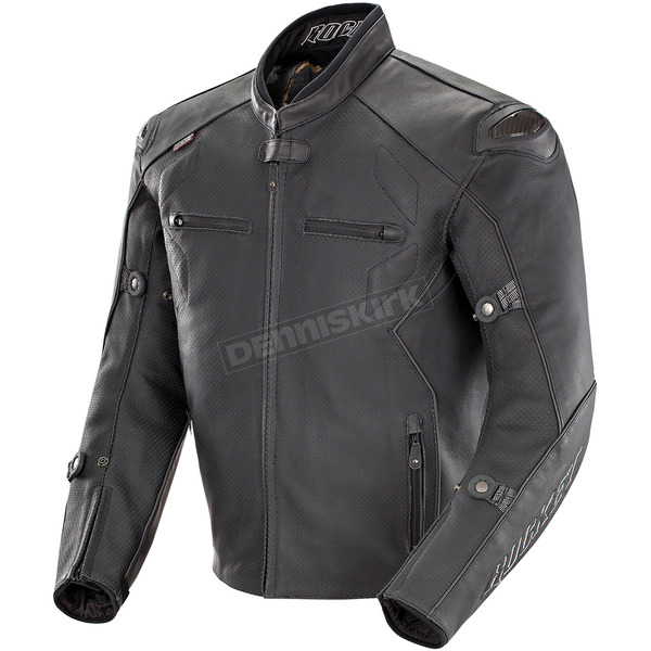 Black Hyperdrive Perforated Jacket - 1536-2042