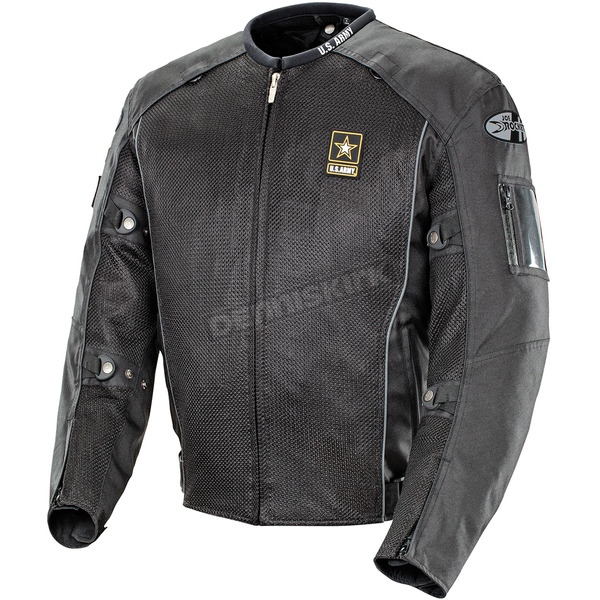 Joe Rocket Black U.S. Army Recon Mesh Jacket - 1546-3003