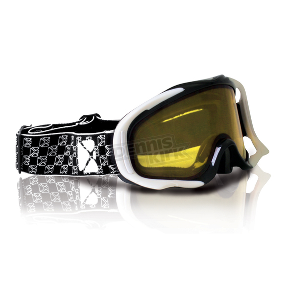 CKX White/Black YH-18DL Goggles - 120109
