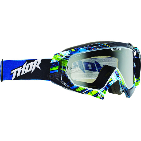 Thor Youth Black/Blue/Green Wired Hero Goggles - 2601-1728