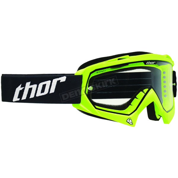 Thor Youth Fluorescent Green Enemy Goggles - 2601-1737
