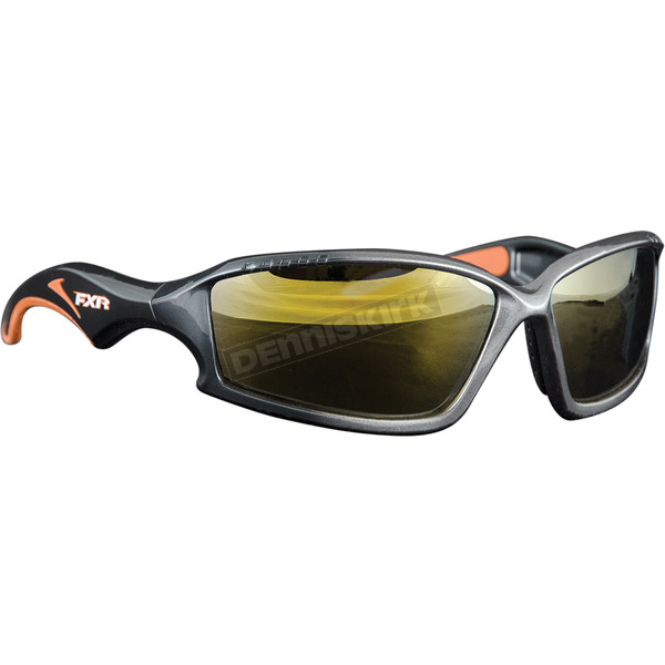 FXR Racing Black Recon Sunglasses w/Gold Lens - 14470