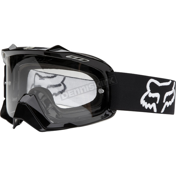 Fox Polished Black Air Space Goggles - 06333-904-OS