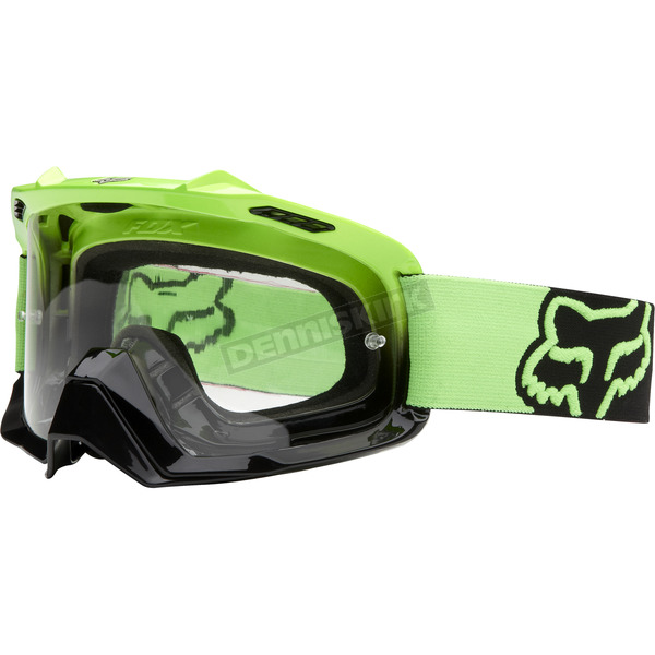Fox Day Glo Green/Black Fade Air Space Goggles - 06333-905-OS